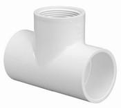 "1/2"" PVC Tee Slip x Slip x Fpt Sch 40 (PF 402-005)"