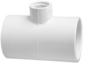 "4""X4""x3/4"" PVC Reducing Tee Slip x Slip x Fpt Sch 40 (PF 402-416)"
