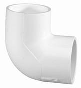 """8"""" PVC 90° Ell Slip Sch 40 (PF 406-080)"""