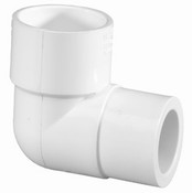 "1"" x 1/2"" PVC Reducing 90° Ell Slip Sch 40 (PF 406-130)"