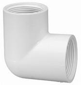 """1"""" PVC 90° Ell FPT Sch 40 (PF 408-010)"""