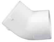 """8"""" PVC 45° Ell Slip Sch 40 (PF 417-080)"""