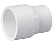 "1-1/2"" x 1-1/4"" PVC Reducing Coupling Slip Sch 40 (PF 429-212)"