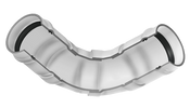 "10"" PVC 90 ELL GASKET CL 160 (PF 340-100902)"