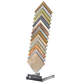 McReady Portable Sample Rack Easy Shipping Steel Tower for Ceramic Tile Samples, Stone, Marble. Bottom Signage Channel. For Showroom Displays count on McColl Display.