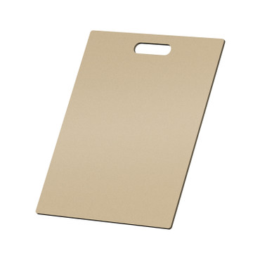 """McColl Display Solutions' raw MDF 15"""" x 19"""" tile sample boards are in stock and ready to ship. Boxed in cartons of twenty for those who need quick and easy sample boards for immediate shipment. Durable Sturdy 1/4"""" MDF with smart-looking rounded corners and a comfortable 4"""" wide by 1"""" high handle at top center."""