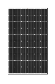 Trina Solar 310W Mono PERC Solar Module - Black Frame/White Back Sheet