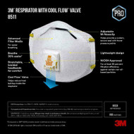 3M 8511 N95 Protective Disposable Face Mask Cover NIOSH Respirator 10 PACK NEW