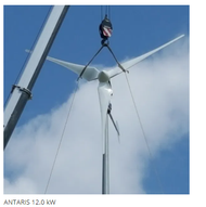 ANTARIS 12.0kW Smart!wind10 Combination Water Heating grid connected Wind Turbine Package