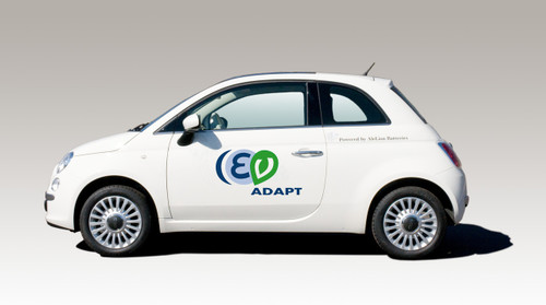ECar Fiat 500EV Electric Vehicle Image