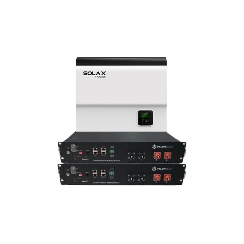 SolaX Single phase Hybrid inverter, 3 7kW + 2 x US2000B