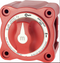 1xBLUE SEA SYSTEMS M-SERIES MINI ON/OFF BATTERY SWITCH WITH KNOB - RED