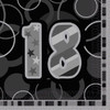 18th Birthday Black Glitz Napkins