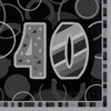 40th Birthday Black Glitz Napkins