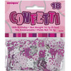 18th Birthday Pink Glitz Foil Confetti