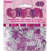 40th Birthday Pink Glitz Foil Confetti