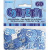 60th Birthday Blue Glitz Foil Confetti