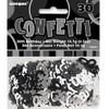 30th Birthday Black Glitz Foil Confetti
