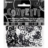 60th Birthday Black Glitz Foil Confetti