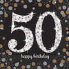 50th Birthday Gold Sparkles Napkins