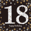 18th Birthday Gold Sparkles Napkins