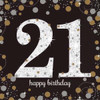 21st Birthday Gold Sparkles Napkins