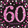 60th Birthday Pink Sparkles Napkins