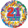 21st Happy Birthday 18th Foil Balloon