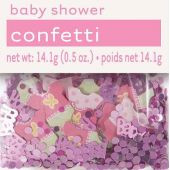 14g Pink Dots Baby Shower Foil Confetti