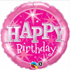 Birthday Pink Sparkle 18 Inch Foil Balloon