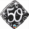 50th Birthday Elegant Sparkles & Swirls 18 Inch Foil Balloon