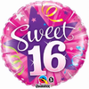 16th Birthday Shining Star Hot Pink 18 Inch Foil Balloon
