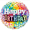 Happy Birthday Rainbow Confetti 18 Inch Foil Balloon