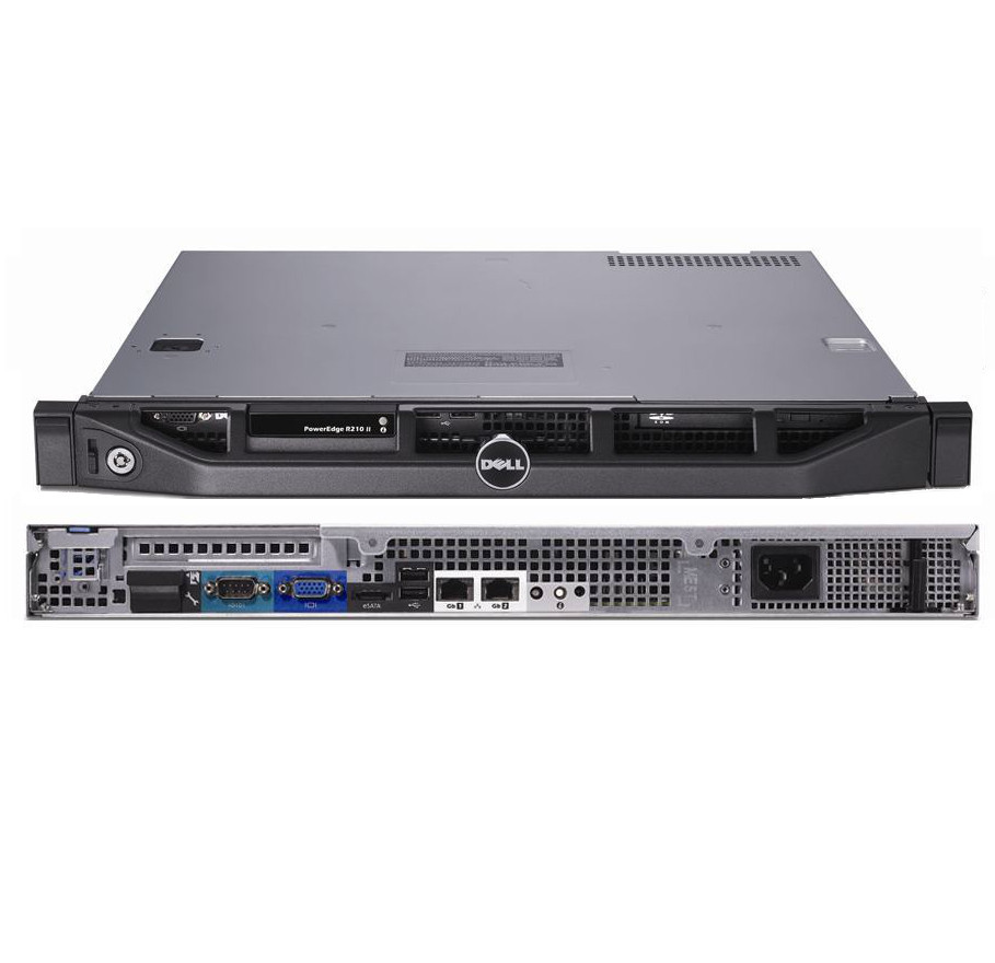 DELL PowerEdge R210 II Refurbished Server - Front and Rear View