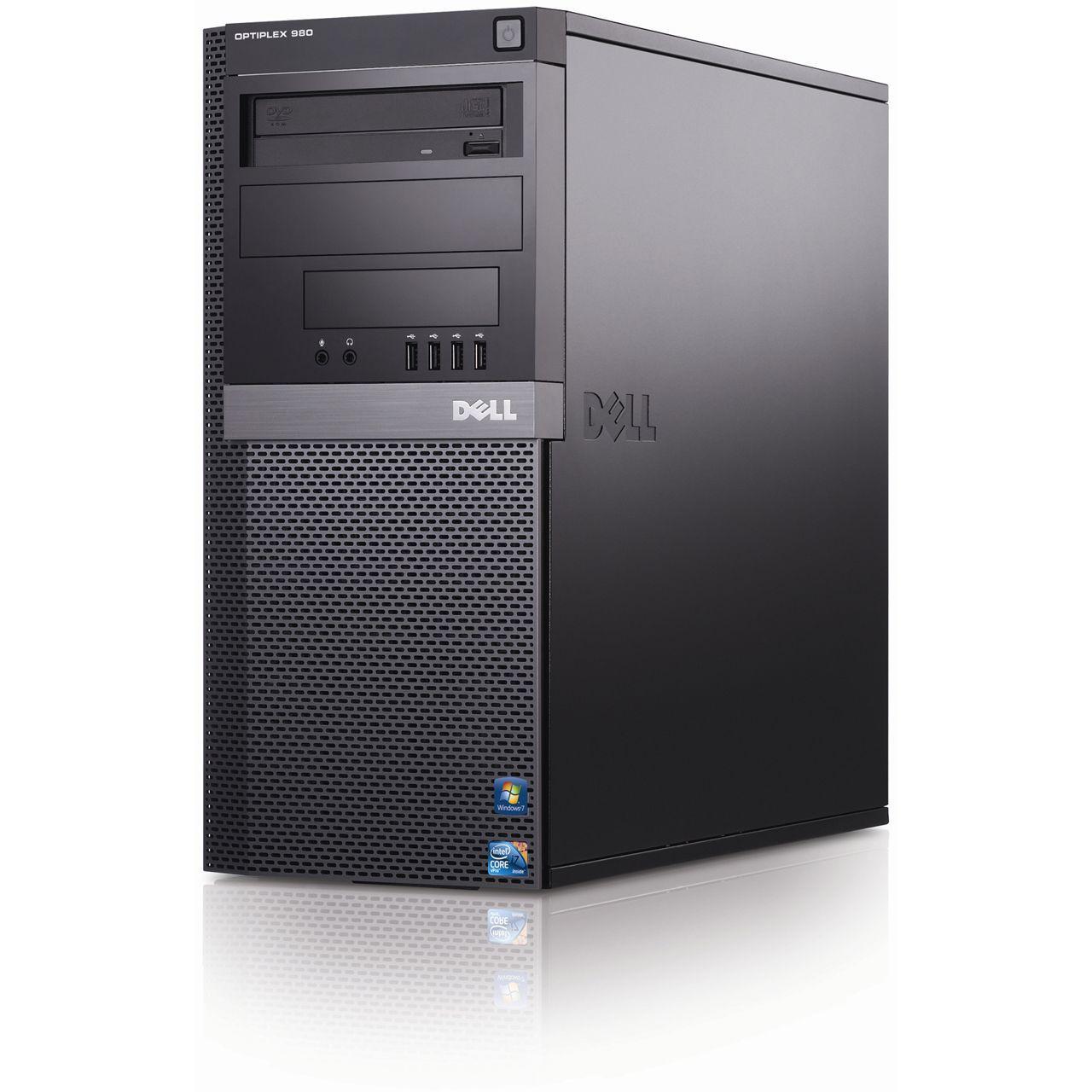 Refurbished Dell optiplex 980 Mini Tower - Front view