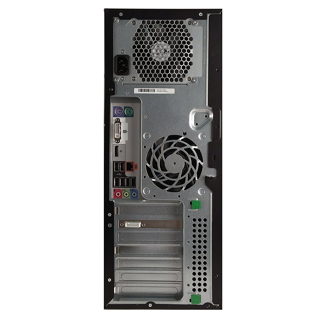 HP Z210 Workstation - Rear View