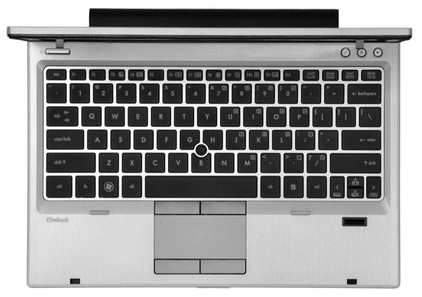 HP Elitebook 2560p laptop - Keyboard