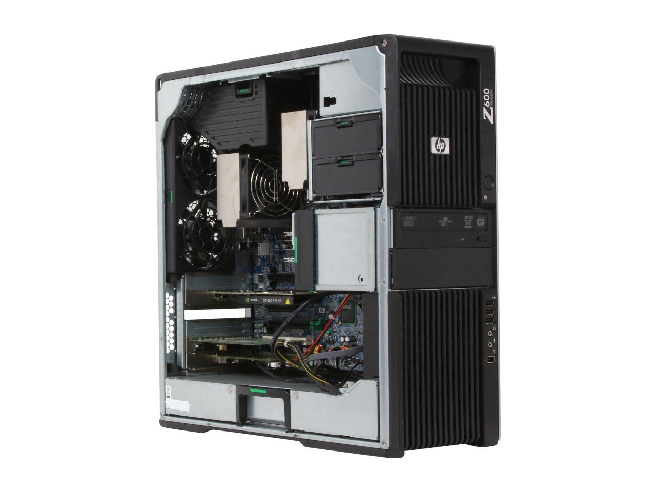 HP Z600 Workstation - inside view