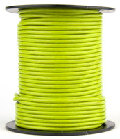 Light Green Round Leather Cord 1.0mm 25 meters