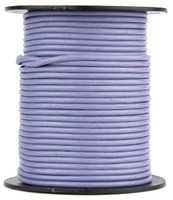 Light Purple Round Leather Cord 2.0mm 100 meters