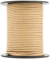 Sand Round Leather Cord 1.0mm 50 meters