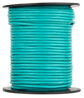 Turquoise Round Leather Cord 1.5mm 100 meters