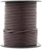 Brown Dark Round Leather Cord 1.0mm 25 meters
