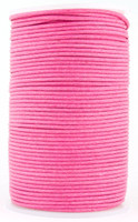 Pink Round Waxed Cotton Cord 2mm 100 meters