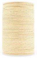 Natural Round Waxed Cotton Cord 2mm 100 meters