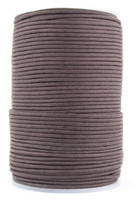 Dark Brown Round Waxed Cotton Cord 2mm 100 meters