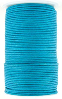 Turquoise Round Waxed Cotton Cord 2mm 100 meters