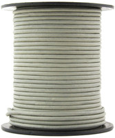 Gray Round Leather Cord 1.0mm 25 meters