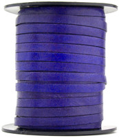 Violet Flat Leather Cord  5 mm 1 Yard