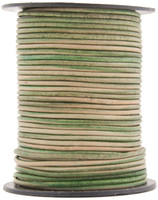 Natural Antique Green Round Leather Cord 1.5mm 10 Feet